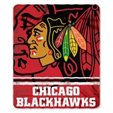 "Chicago Blackhawks NHL ""Fade Away"" Fleece Throw"