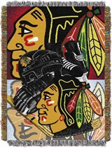 "Chicago Blackhawks NHL ""Home Ice Advantage"" Woven Tapestry Throw"