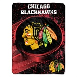 "Chicago Blackhawks NHL ""Ice Dash"" Micro Raschel Throw"