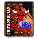 Chicago Bulls NBA Commemorative Woven Tapestry Throw