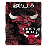 "Chicago Bulls NBA ""Dropdown"" Raschel Throw"