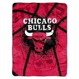 "Chicago Bulls NBA ""Shadow Play"" Raschel Throw"