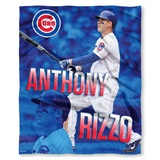 "Chicago Cubs MLB ""Anthony Rizzo"" Player Silk Touch Throw"