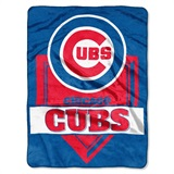 "Chicago Cubs MLB ""Home Plate"" Raschel Throw"