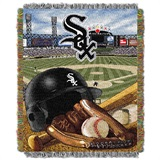 "Chicago White Sox MLB ""Home Field Advantage"" Woven Tapestry Throw"