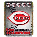 "Cincinnati Reds MLB ""Commemorative Woven Tapestry Throw"