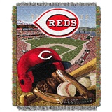 "Cincinnati Reds MLB ""Home Field Advantage"" Woven Tapestry Throw"