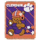 "Clemson  Tigers NCAA ""Fullback"" Baby Woven Jacquard Throw"