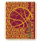 "Cleveland Cavaliers NBA ""Double Play"" Woven Jacquard Throw"
