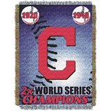 "Cleveland Indians MLB ""Commemorative Woven Tapestry Throw"