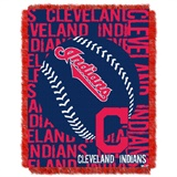 "Cleveland Indians MLB ""Double Play"" Woven Jacquard Throw"