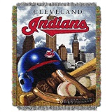 "Cleveland Indians MLB ""Home Field Advantage"" Woven Tapestry Throw"