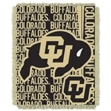 "Colorado Buffaloes NCAA ""Double Play"" Woven Jacquard Throw"