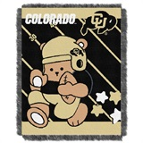 "Colorado  Buffaloes NCAA ""Fullback"" Baby Woven Jacquard Throw"