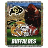 "Colorado Buffaloes NCAA ""Home Field Advantage"" Woven Tapestry Throw"
