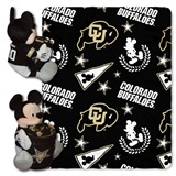 "Colorado Buffaloes NCAA ""Mickey"" Hugger and Fleece Throw"