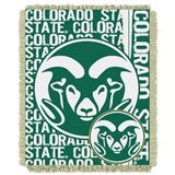 "Colorado State Rams NCAA ""Double Play"" Woven Jacquard Throw"