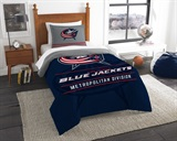 "Columbus Blue Jackets NHL ""Draft"" Twin Comforter Set"