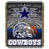 "Dallas Cowboys NFL ""Home Field Advantage"" Woven Tapestry Throw"