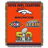 "Denver Broncos NFL ""Commemorative"" Woven Tapestry Throw"