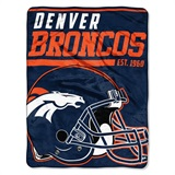 "Denver Broncos NFL ""40 yard Dash"" Micro Raschel Throw"