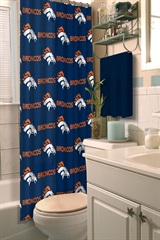 Denver Broncos NFL Shower Curtain