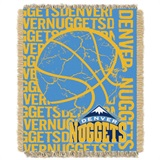 "Denver Nuggets NBA ""Double Play"" Woven Jacquard Throw"