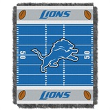 "Detroit Lions NFL ""Field"" Baby Woven Jacquard Throw"
