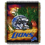 "Detroit Lions NFL ""Home Field Advantage"" Woven Tapestry Throw"