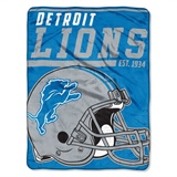 "Detroit Lions NFL ""40 yard Dash"" Micro Raschel Throw"