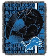"Detroit Lions NFL ""Double Play"" Woven Jaquard Throw"