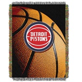 "Detroit Pistons NBA ""Photo Real"" Woven Tapestry Throw"