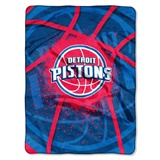 "Detroit Pistons NBA ""Shadow Play"" Raschel Throw"
