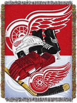 "Detroit Red Wings NHL ""Home Ice Advantage"" Woven Tapestry Throw"