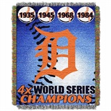 "Detroit Tigers MLB ""Commemorative Woven Tapestry Throw"