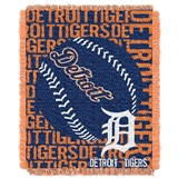 "Detroit Tigers MLB ""Double Play"" Woven Jacquard Throw"