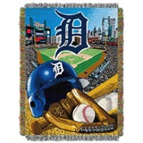 "Detroit Tigers MLB ""Home Field Advantage"" Woven Tapestry Throw"