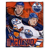 Edmonton Oilers NHL Connor McDavid Player Silk Touch Throw