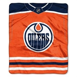 "Edmonton Oilers NHL ""Jersey"" Raschel Throw"
