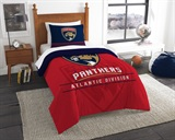 "Florida Panthers NHL ""Draft"" Twin Comforter Set"