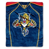 Florida Panthers NHL Jersey Raschel Throw