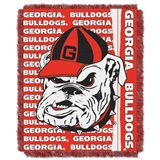 "Georgia Bulldogs NCAA ""Double Play"" Woven Jacquard Throw"