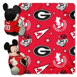 "Georgia Bulldogs NCAA ""Mickey"" Hugger and Fleece Throw"