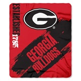 "Georgia Bulldogs NCAA ""Painted"" Fleece Throw"