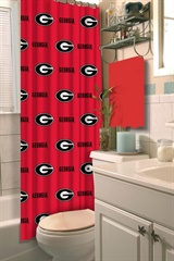 Georgia Bulldogs NCAA Shower Curtain