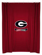 Georgia U Bulldogs  Shower Curtain