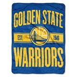 "Golden State Warriors NBA ""Clear Out"" Micro Raschel Throw"