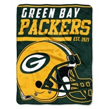 "Green Bay Packers NFL ""40 yard Dash"" Micro Raschel Throw"