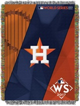 "Houston Astros ""AL Champs"" Bounty Commemorative Woven Tapestry Throw"