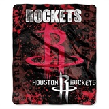 "Houston Rockets NBA ""Dropdown"" Raschel Throw"
